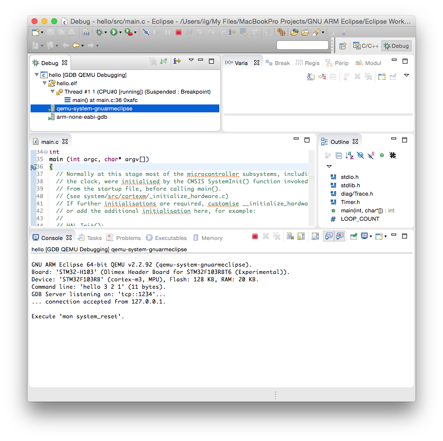 The QEMU debugging Eclipse plug-in