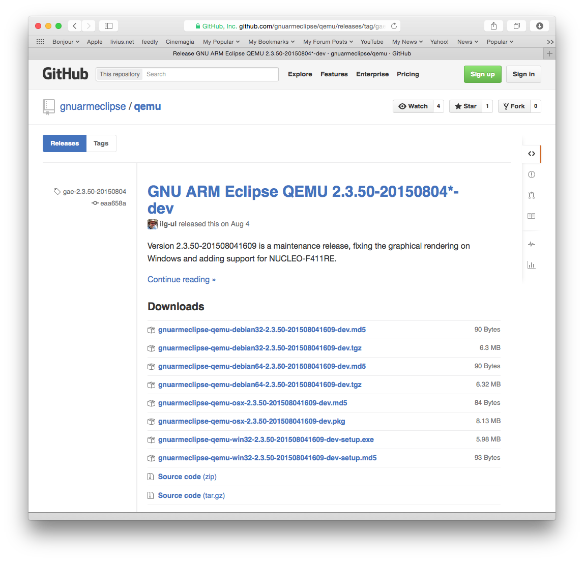 The QEMU Releases page