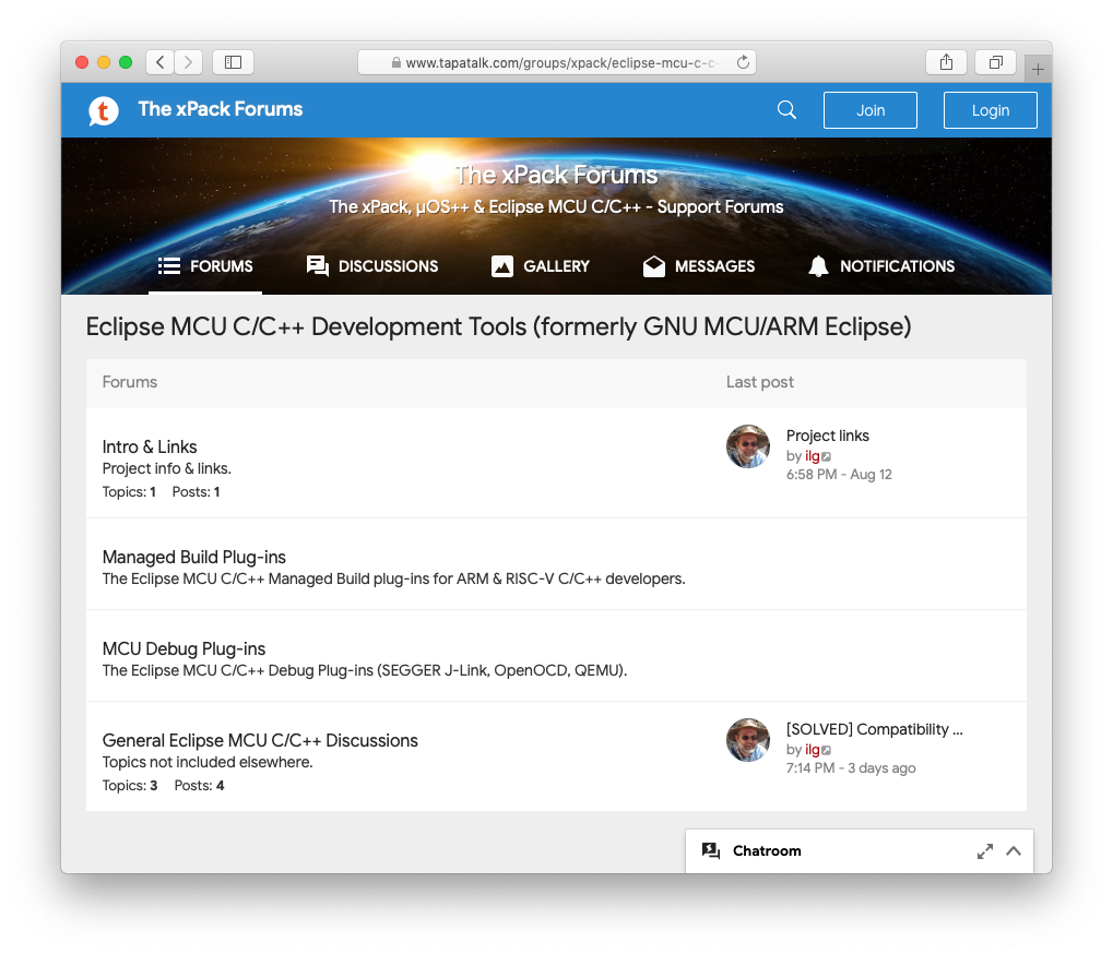 GNU MCU Eclipse forum